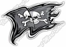 "Pirate Flag Skull Jolly Roger Boat Corsair Car Bumper Vinyl Sticker Decal 5""X4"""
