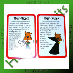 MUNCHKIN BITES BITS - 2x HALF-BREED CARDS - Steve Jackson Games