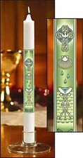 Baptism by Water and Holy Spirit Straight Side Candle (71120)NEW w Certificate