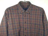 Scott Barber Men's Longsleeve Shirt Plaid /Checks Button-Front Casual size Large