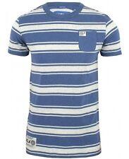 UCLA Mens S Stripped Livingston Daphne Blue SS Crew T-Shirt Bnwt New Heritage l