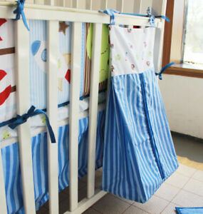 NEW High Quality Embroidered Nursery Diaper Nappy Stacker Organiser Bag 310