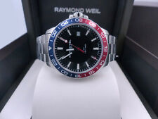 Raymond Weil Men's Tango 8280-ST3-20001 Blue and Red Stainless Steel Diver Watch