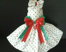 New listing Dog Dress Harness Red And Green Dots New Free Shipping