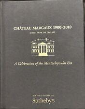 SOTHEBY'S WINE CHATEAU MARGAUX 1900-2010 Auction Catalog 2015 HC
