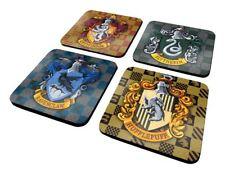 Harry Potter Hogwarts House Shields 4 Cork Coaster Set Griffindor Slytherin