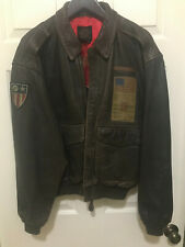 Vintage '80s Avirex US Army Air Forces Leather A-2 Flight Jacket WW2 CBI AVG