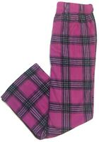 Great Northwest Fleece Pajama Pants Lounge Pants Sleep Pants Womens Pink Plaid