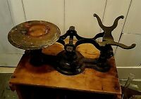 Antique Cast Iron General Store Scale Mechanical Grocery Weight Balance Measure