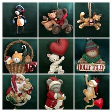 ASSORTED CHRISTMAS ORNAMENTS - CATS, KITTENS, MICE! - YOU CHOOSE!
