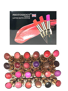 PHOTOSHOOT LONDON MATTE LIPSTICK BRIGHT COLOURS - CHOOSE & FREE KG LIPLINER x 1