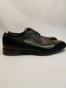 STACY ADAMS Men's Rooney Wingtip Oxford - Brown with Blue Size 10