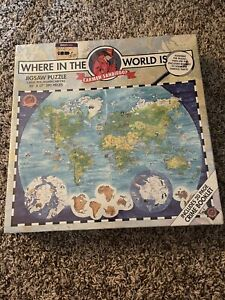 Where In The World Is Carmen Sandiego 300 Piece Jigsaw Puzzle 1993 - NEW SEALED