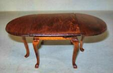 Queen Anne Drop Leaf Table Oval Walnut #M7806 Doll House Furniture Miniatures