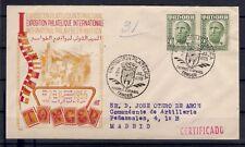 SOBRE DE TANGER  EXPOSICION FILATELICA INTERNACIONAL 1955 CERTIFICADA VER FOTOS
