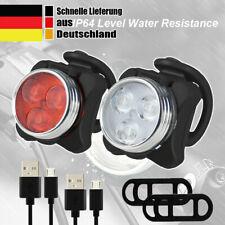 Akku LED Fahrradlicht Set Fahrradbeleuchtung Scheinwerfer USB Vorne Hinten Lampe
