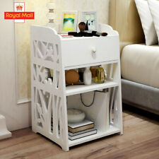 UK Wooden Bedside Table Cabinet Bedroom Furniture Storage Nightstand with Drawer