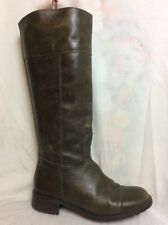 LADIES UNBRANDED BROWN LEATHER KNEE HIGH BOOTS SIZE 37 Uk 4