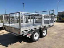 4500kg HYDRAULIC FLAT TOP 4.5t TIPPER GALVANISED 12x7 TIPPING machinery