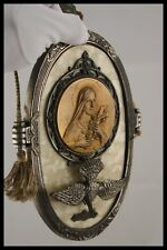 † ST THERESE OF LISIEUX & HOLY SPIRIT BAKELITE PLAQUE MEDAL by RUFFONY FRANCE †