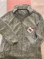 NWT KATYDID SHERPA FLEECE pullover sweatshirt trendy GRAY MEDIUM soft western
