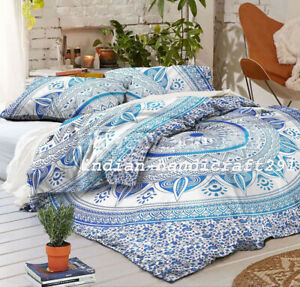 Indian Mandala King Size Duvet Doona Cover Bohemian Bedding/Quilt Set Hippie