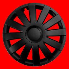 "Fiat 500 14"" rueda Adornos 4x14"" Set Completo Nuevo Set Completo Negro"