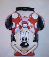 Vintage Disney Minnie Mouse Head Metal Tin Lunch Box Multi Color Collectible