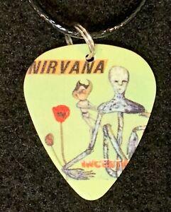 NIRVANA Guitar Pick Necklace Grunge MUSIC Kurt Cobain (E) incesticide