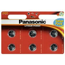 6x CR2025 Lithium-Batterie 3,0 Volt 165mAh ø20x2,5mm 3V Blisterpack Panasonic