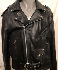 Xelement Motorcycle Leather Riding Jacket w/ Harley Eagle Patch Sz 48 Moto Biker