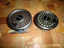 """Cortland 3-1/2"""" Fly Reel made in England w/ Spare Spool & Fly Lines"""