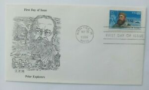 22 Cent First Day Cover Polar Explorers Adolphus W. Greely IPM