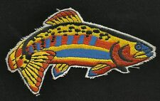 "Rainbow Trout Fish 5"" Fishing Collectors Patch - Iron ON"