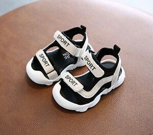 Black Boys Girls Summer Sandals Baby Toddler Kids Casual Outdoor Beach Sandals
