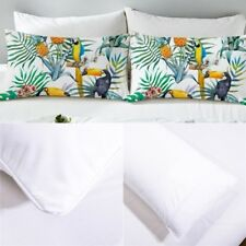 Set Of 2 Pillowcases Tropical Plant Print Pillow Case Cover Bedding Queen King