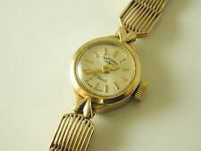 """Orologio Rotary Donna Vintage Orologio d'oro 9 KT datata 1964 7"""" di lunghezza Bracciale 13.5 G"""