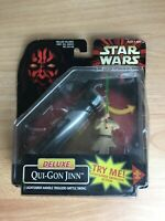 "Star Wars - Deluxe Qui-Gon Jinn for 3 3/4"" Action Figures"