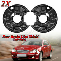 2x BRAKE DISC COVER SPLASH PLATE REAR FOR MERCEDES C-CLASS W203 CL203 S203 A209