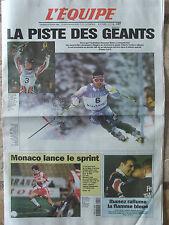 L'Equipe du 20/2/1998 - J.O Nagano : Tomba rêve d'or - Ibanez - Monaco