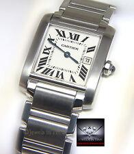 Cartier Tank Francaise Stainless Steel Quartz Ladies Midsize Watch 2465