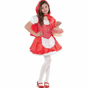 Girls Classic Red Riding Hood Halloween Costume large child  12-14