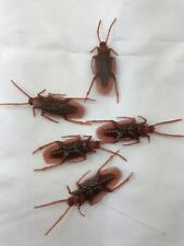 5 X FAKE PLASTIC COCKROACH PRANK BUG INSECT FUNNY TOY PARTY GIFT SCARY TRAP