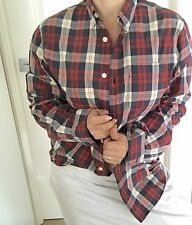 COUNTRY ROAD MENS SHIRT COTTON CHECKS LONG SLV CASUAL WORK SZ S