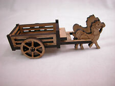 "Dollhouse Miniature 1/4"" Scale 1:48  Horse  Set  Made of  Plywood #Z232"
