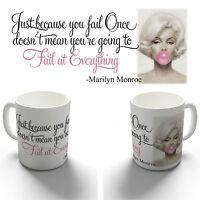 MARILYN MONROE FAIL FAMOUS QUOTE COFFEE MUG TEA CUP BIRTHDAY CHRISTMAS GIFT