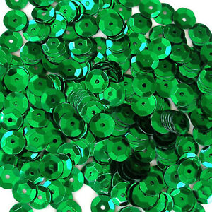 Sequins Kelly Green 10mm Round Cup ~240 or ~2,800 pieces Loose High Quality