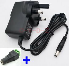 UK 9V 1A Switching Power Supply adapter AC 100-240V DC 1Amp with connector block