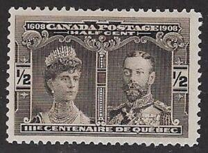 Canada 1908 Quebec Tercentenary ½¢, Sc #96 MNH, VF, CV $45.00 - dw7.23