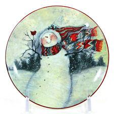 "MWW Market ENCHANTED SNOWMAN - MOTHER 4.5"" Mini Plate Christmas Susan Winget"